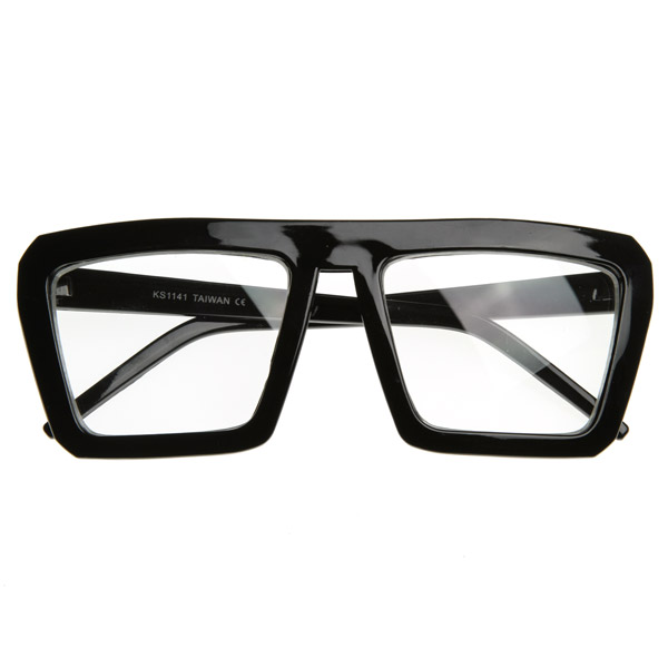 zeroUV Fashion Frame Flat Top Blaster Frame Wayfarers Style Eyewear Clear Lens Glasses at Sears.com