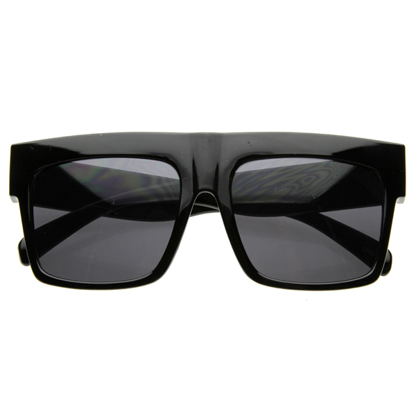 Designer-Inspired-Bold-Retro-Plastic-Flat-Top-Square-Aviator-Sunglasses