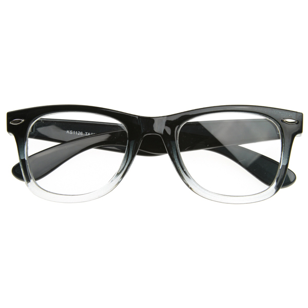 Glasses Frame Fading : Two Tone Fade Classic Clear Lens Horn Rimmed Glasses eBay
