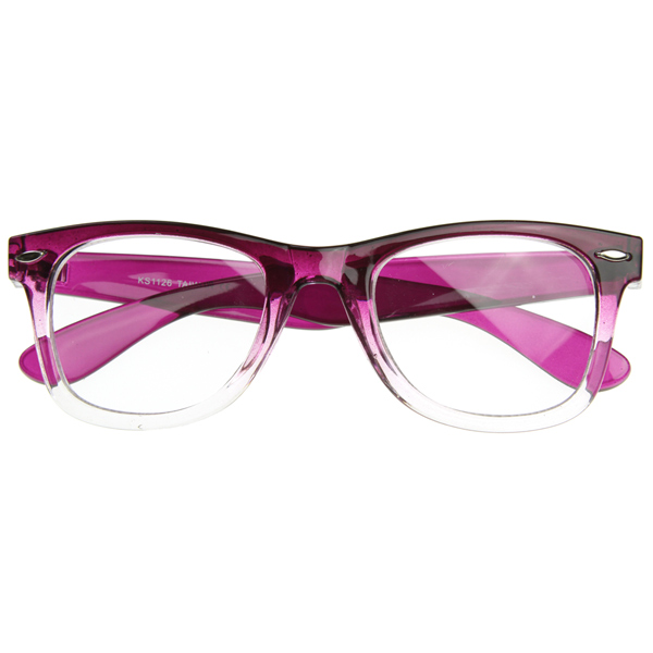 two tone classic clear lens wayfer glasses rx able frame