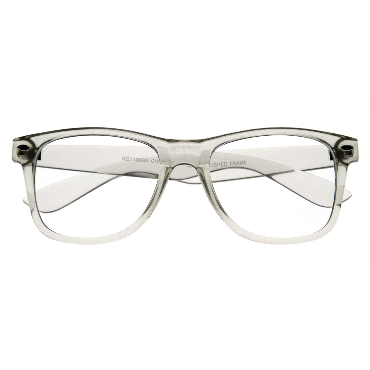 Clear Frame Glasses Retro : Clear Transparent Translucent Crystal Frame Clear Lens ...