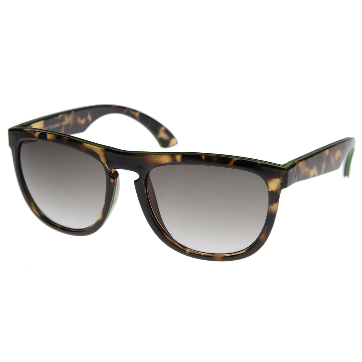 New-Custom-Vintage-Inspired-Two-Tone-Color-Key-Hole-Bridge-Horn-Rimmed-Style