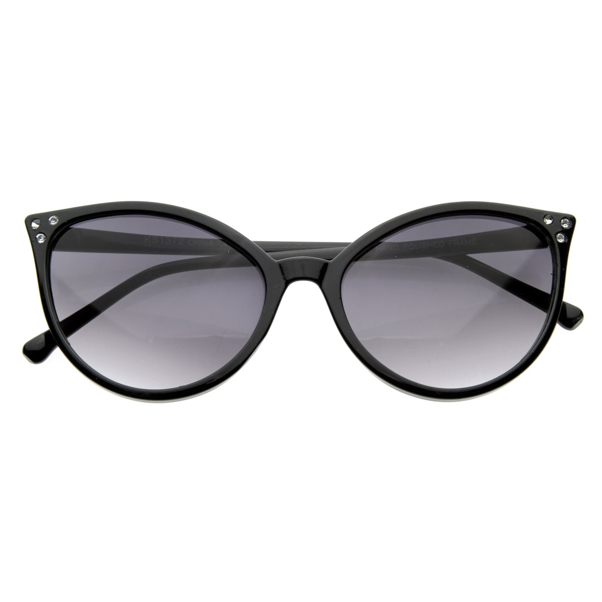 Super-Cute-Vintage-Rhinestone-Cateye-Sunglasses
