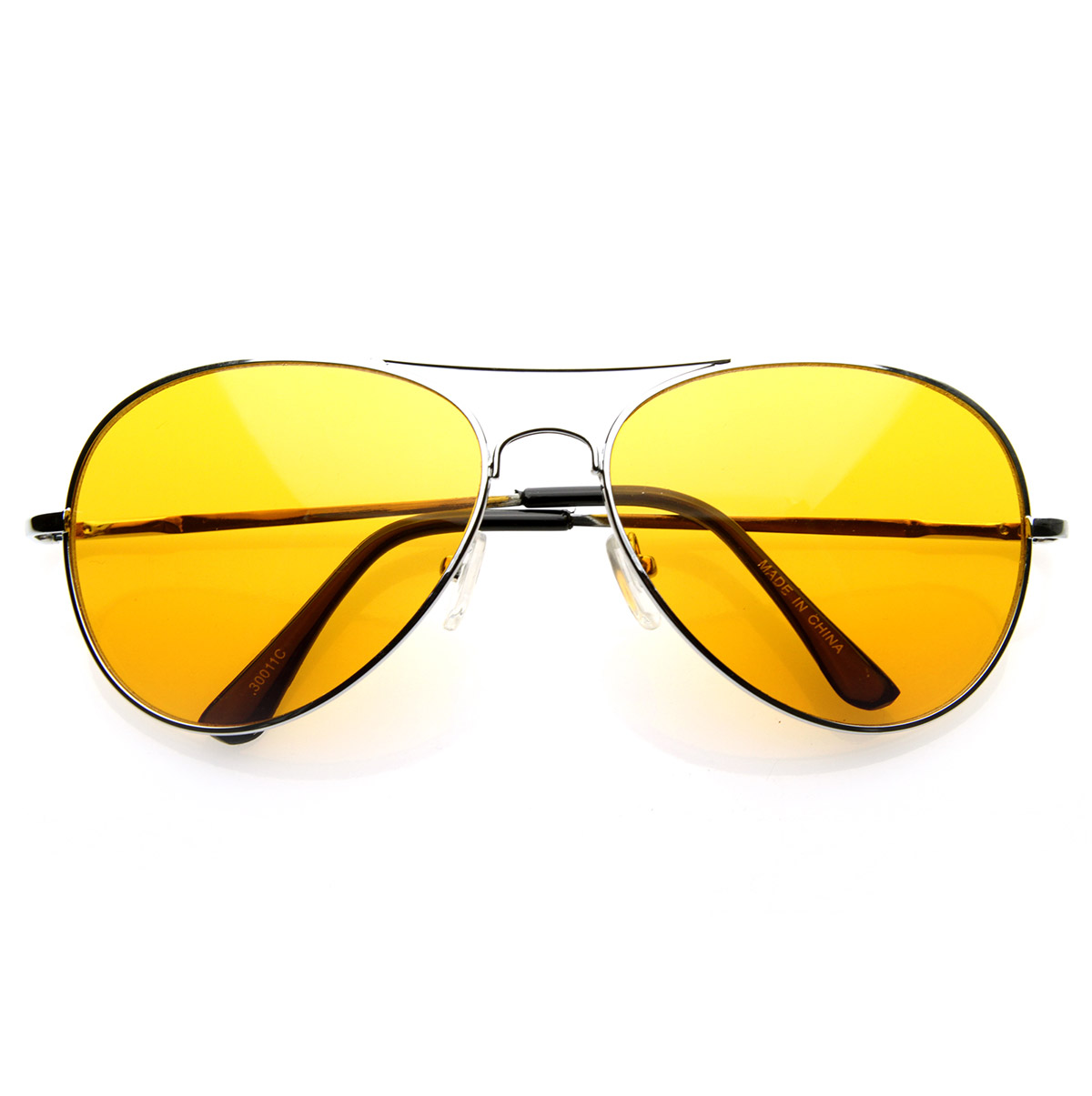 Orange Tinted Sunglasses  colorful premium silver metal aviator glasses with color lens