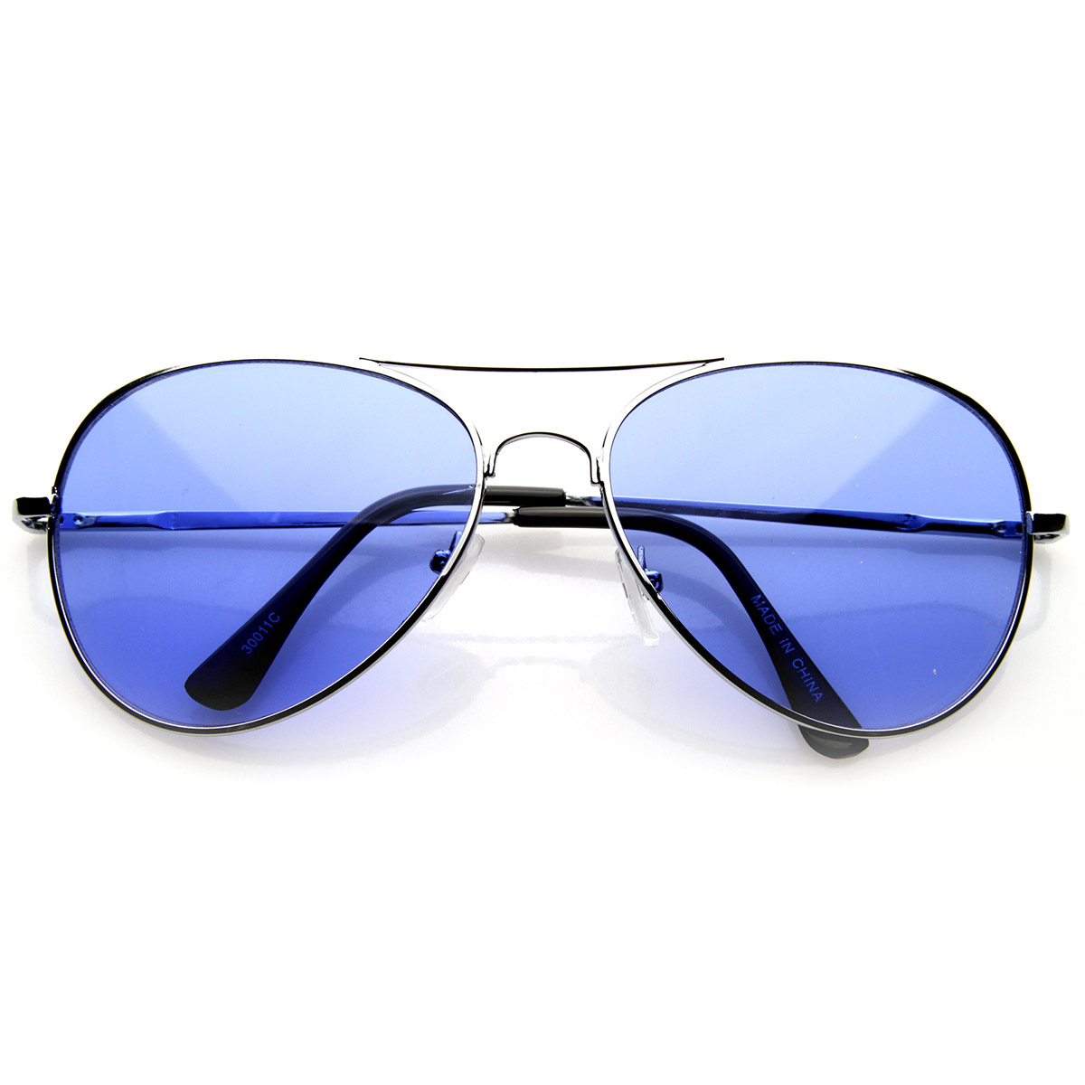 colorful premium silver metal aviator glasses with color