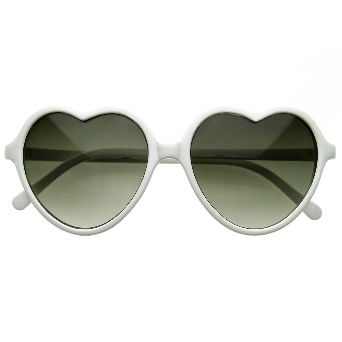 Large Framed Fashion Glasses : Large Oversized Thin Frame Lovely Heart Shaped Womens ...