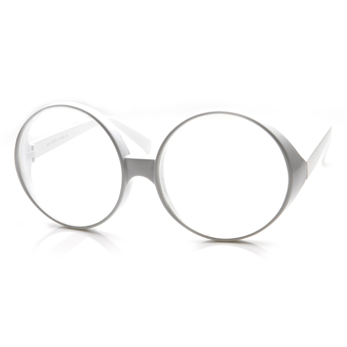 Super-Large-Oversized-Thick-Frame-Circle-Round-Clear-Lens ...