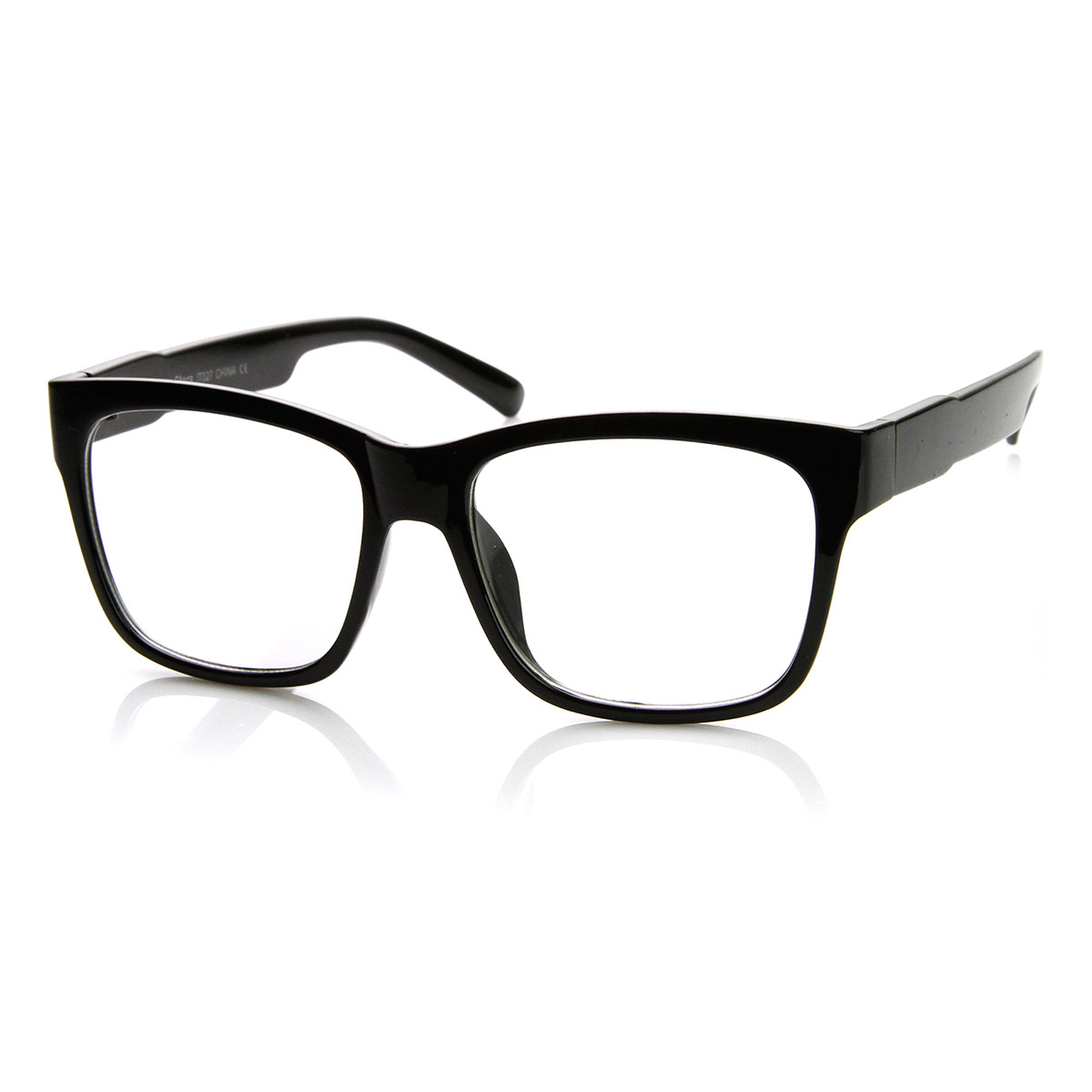 Big Thick Frame Glasses : Casual Bold Thick Square Frame Clear Lens Horn Rimmed ...