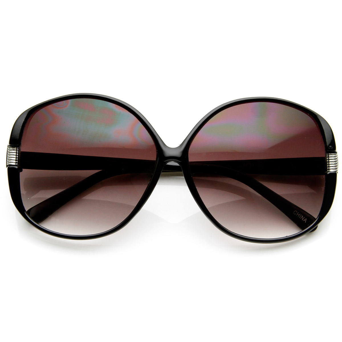 Womens Fashion Metal Accent Round Oversized Sunglasses Ebay
