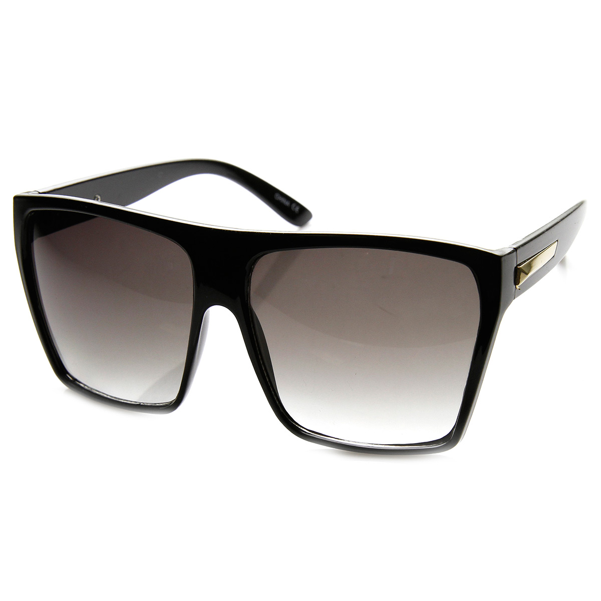 Large Oversized Retro Fashion Square Flat Top Sunglasses