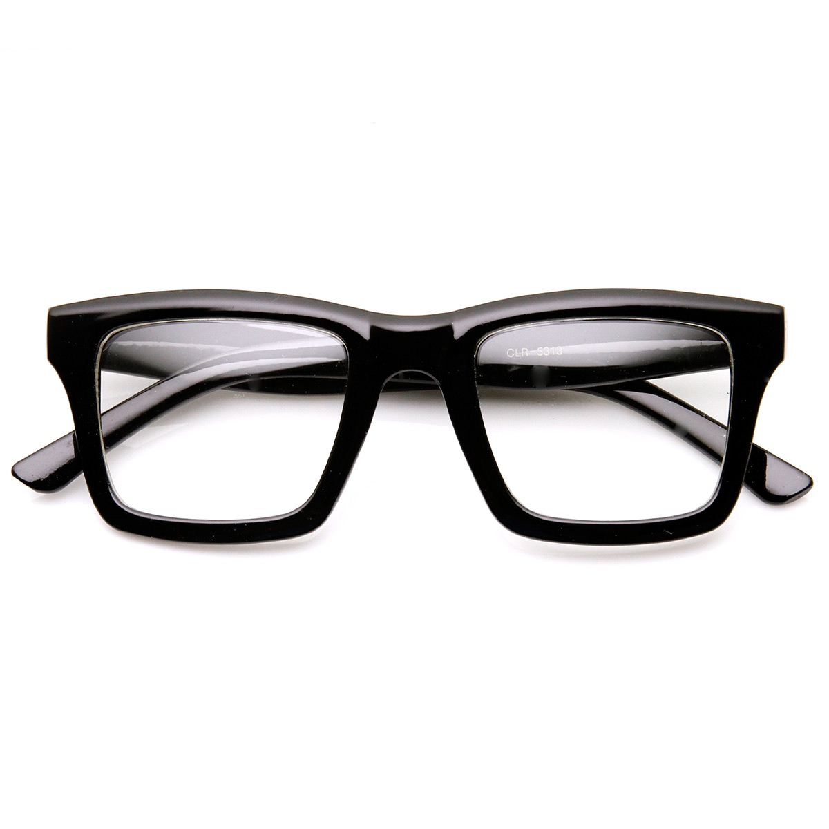 Square Framed Fashion Glasses : Modern Fashion Dapper Square Bold Frame Clear Lens Glasses ...